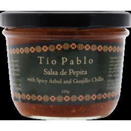 Photo of Tío Pablo Salsa De Pepita With Spicy Arbol And Guajillo Chillis 330g