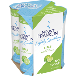 Photo of Mount Franklin Lightly Sparkling Water Lime Multipack Mini Cans 4x250ml