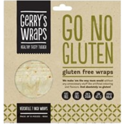 Photo of No Gluten Wraps Gerry's 7 inch 6 Pack 168g