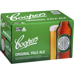 Photo of Coopers Pale Ale Bottles 375ml X 4 X 6 Pack Carton