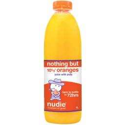 Photo of Nudie Nothing But Oranges Juice With Pulp 1