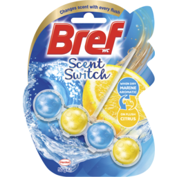 Photo of Bref Scent Switch Marine Aromatic/Citrus, Toilet Cleaner, 50g