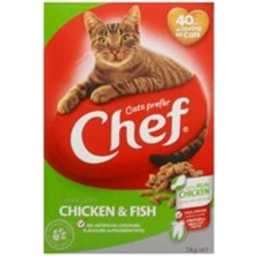 Photo of Chef Dry Cat Food Chicken & Fish 1kg