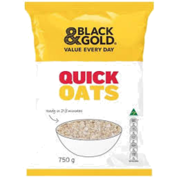 Photo of Black & Gold Quick Cooking Oats 750g