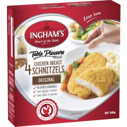 Photo of Ingham's Table Pleasers 4 Chicken Breast Schnitzels Original 400g