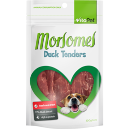 Photo of Vitapet Morsomes Dog Treats Duck Tenders 100g