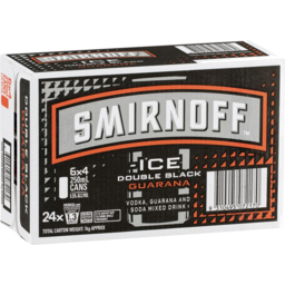 Photo of Smirnoff Ice Double Black & Guarana Cans