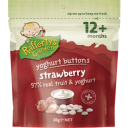 Photo of Raffertys Garden Yoghurt Buttons Strawberry 28g