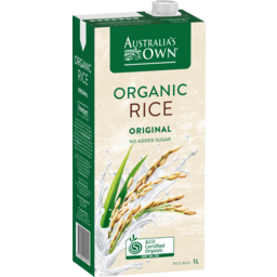 Photo of Australias Own Organic Rice Milk 1l
