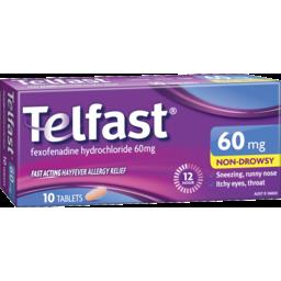 Photo of Telfast Hayfever Allergy Tablets 60mg