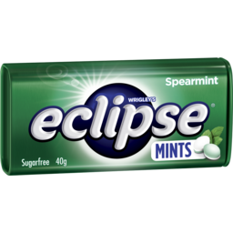 Photo of Wrigley's Eclipse Spearmint Mints Sugar Free Large Tin 40g