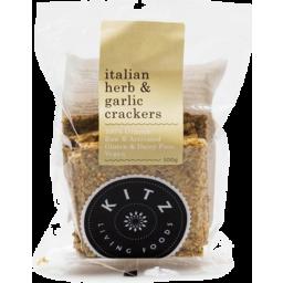 Photo of KITZ Living Foods Crackers - Raw Italian Herb & Garlic