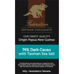 Photo of FEDERATION:FE Sea Salt 74% Dark Chocolate 100g