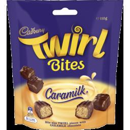 Photo of Cadbury Twirl Caramilk Bites 10ca 110g