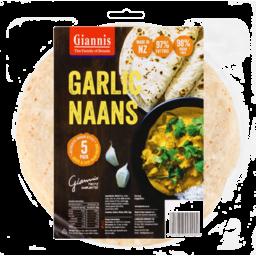 Photo of Giannis Bread Naan Garlic 5 Pack