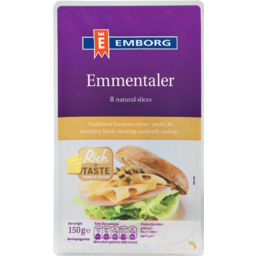 Photo of Emborg Slices Emmentaler 150g