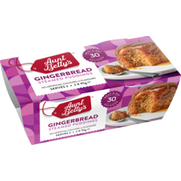 Photo of Aunt Betty's Pudding Gingerbread 2 Pack x 95g