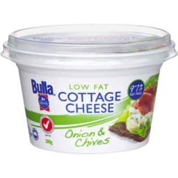 Photo of Bulla Low Fat Cottage Cheese 200g Onion & Chives