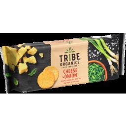 Photo of Tribe Organics Cheese & Onion Rice Crackers 100g