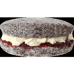 Photo of Choc Lamington Round Jam & Fresh Cream Cake