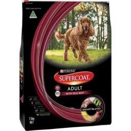 Photo of Purina Supercoat Adult Dog Beef Dry Dog Food 7.5kg