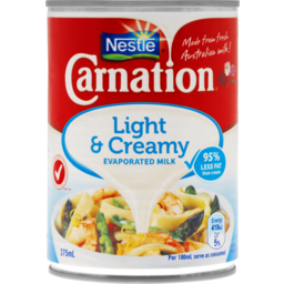 Photo of Nestle Carnation Milk Light & Creamy Evaporated 375ml 375ml