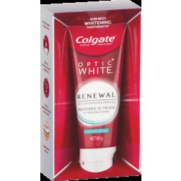 Photo of Colgate Optic White Renewal Teeth Whitening Toothpaste 85g, Lasting Fresh, Enamel Safe, With 3% Hydrogen Peroxide 85g