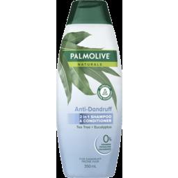 Photo of Palmolive Naturals Anti Dandruff 2 In 1 Hair Shampoo & Conditioner Tea Tree + Eucalyptus 350ml