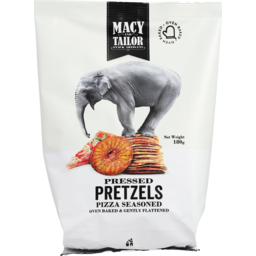 Photo of Macy And Tailor Pizza Seasoned Pressed Pretzels 180g