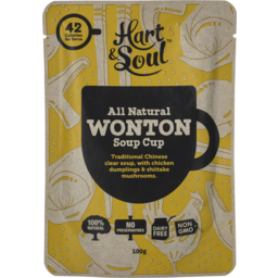 Photo of Hart & Soul All Natural Wonton Soup Cup 100gm