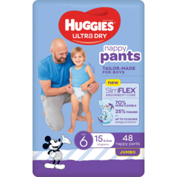 Photo of Huggies Ultra Dry Nappy Pants For Boys 15kg & Over Size 6 Jumbo 48 Pack
