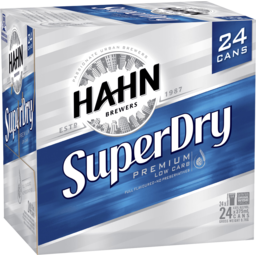 Photo of Hahn Super Dry Cans
