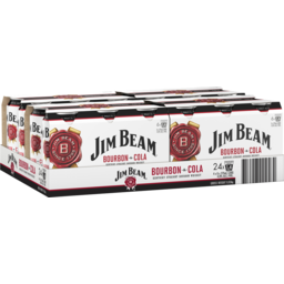 Photo of Jim Beam White & Cola Can 375ml (6) 24 Pack