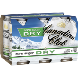 Photo of Canadian Club Whisky & Dry Zero Cans