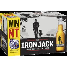 Photo of Iron Jack Crisp Australian Lager 24 X 330ml Bottle Carton