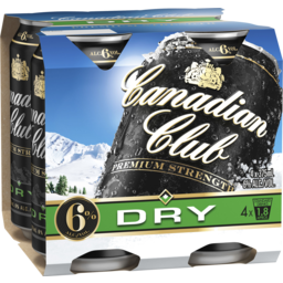 Photo of Canadian Club Premium Whisky & Dry Cans