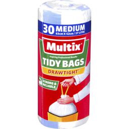 Photo of Multix Drawtight Tidy Bags Medium 30 Pack