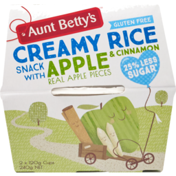 Photo of Aunt Betty's Apple & Cinnamon Creamy Rice Snack 2 Pack 240g 240g