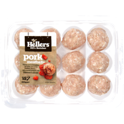 Photo of Hellers Meatballs Free Farmed Pork 12 Pack