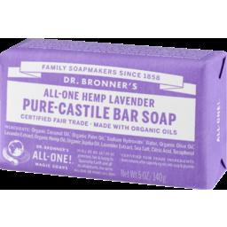 Photo of Dr Bronner's Pure-Castile Soap Bar - Lavender