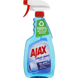 Photo of Ajax Spray N' Wipe Triple Action Glass Cleaner Anti Streak Anti Fog Anti Scratch Ammonia Free Trigger Spray 500ml