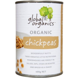 Photo of Global Organics Chickpeas 400gm