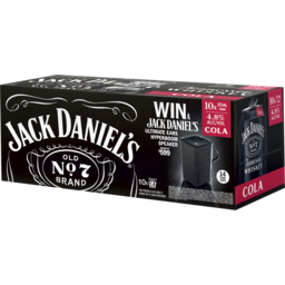 Photo of Jack Daniel's & Cola Can 10 Pack