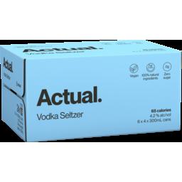 Photo of Actual Vodka Seltzer Cans