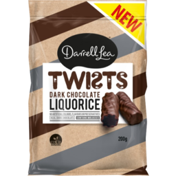 Photo of Darrell Lea Liquorice Twists Dark Chocolate 200g