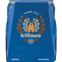 Photo of Kroftmans Lager Cans 500ml 4 Pk