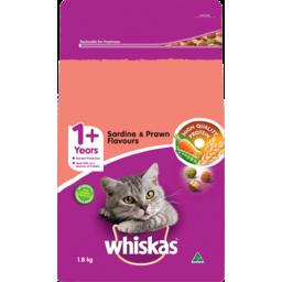 Photo of Whiskas 1+ Years Sardine & Prawn Flavours Dry Cat Food 1.8kg