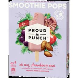 Photo of Proud & Punch Strawberry Acai Smoothie Pop 6pk