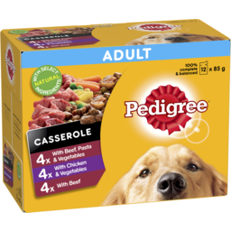 Photo of Pedigree Wet Dog Food Casserole Favourites 12x85g Pouches