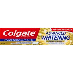 Photo of Colgate Fluoride Toothpaste Advanced Whitening & Tartar Control 190g